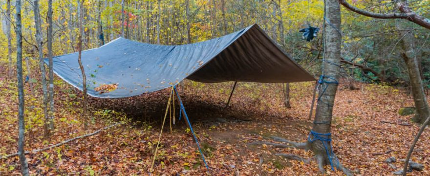 uses of tarp for camping
